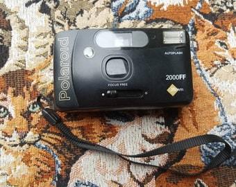 Vintage Polaroid 2000ff 35mm Film Focus Free Camera UNTESTED