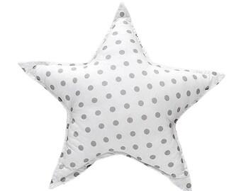 Pillow Star - Grey Dots