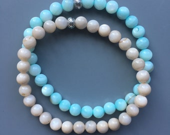 Bracelets of shell beads, price per piece, in 4 colors available