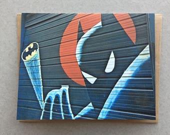 Batman Graffiti Greeting Card