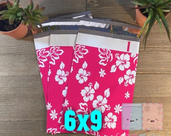 100 pcs 6x9 Floral Hawaiian Poly Mailers