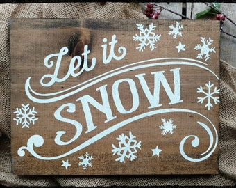 Let It Snow Sign  Etsy. Winter Flower Banners. Found Object Murals. Lymphopenia Lymph Signs. Shubh Stickers. Non Small Signs. Wallpaper Wall Art Murals. Cultural Event Banners. Tree Root Stickers
