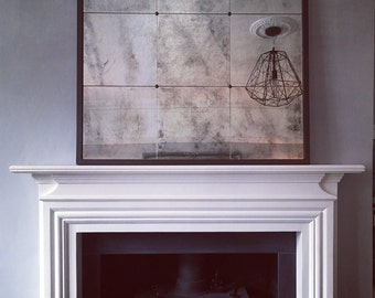 Milla 9 -  Antiqued Distressed Panel Mirror. Options and Bespoke available.