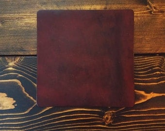 Leather mouse pad
