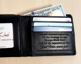 Father of the bride gift • mens wallets •  personalized mens wallet • RFID wallet • groomsman gift • monogram wallet • Black* 7751