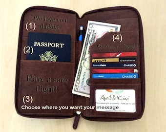 Personalized passport wallet, RFID passport wallet, leather passport wallet, mens passport wallet, travel wallet, passport cover for him