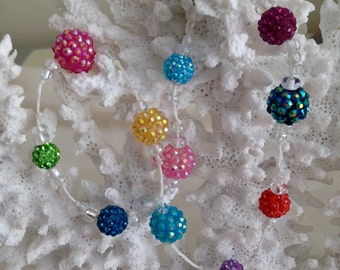 Colorful Crystal Double Wrap Bracelet