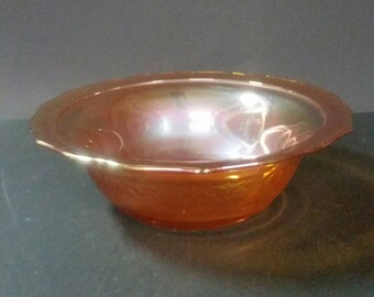 Carnival glass bowl. Marigold.  8 inch