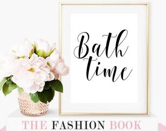 bathroom decor, bathroom art, bathroom sign, wall art, washroom decor, calligraphy, washroom print, girl bathroom decor, bathroom wall decor