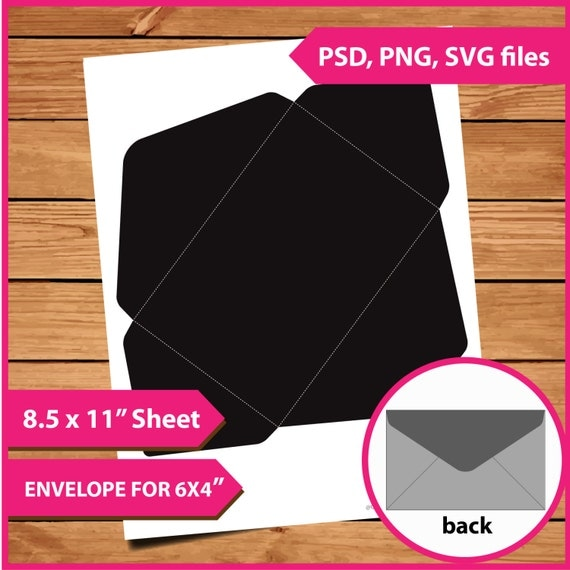 Envelope layer template instant download psd png and svg for 8 5 x 11 envelope template