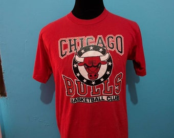 Vtg chicago bulls basketball jersey club 80s 50/50 Shirt.