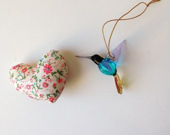 Blown glass Hummingbird