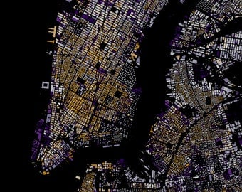 New York City Center abstract map