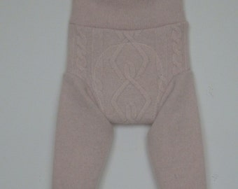 Lambswool/angora baby longies, diaper cover, soaker, Size S