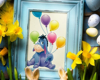 EEYORE DONKEY Cross stitch pattern, Winnie The Pooh, Disney Needlecraft, Instant PDF download
