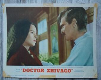 1965 Vintage Doctor Zhivago Lobby card - Dr. Zhivago - Vintage movie decor - Vintage movie lobby card - Doctor Zhivago - Original Lobby Card