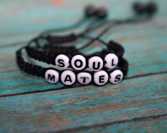 Soul Mates Couple Bracelet, Boyfriend Girlfriend Jewelry, Couple Bracelet, His and Hers Bracelet, Anniversary Gift, Wedding Gift