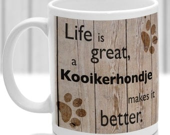 Kooikerhondje dog mug, Kooikerhondje dog gift, dog breed mug, ideal present for dog lover