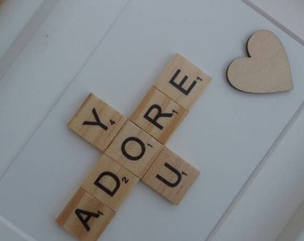 Scrabble Adore You Picture