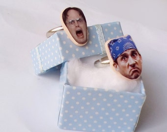 Dwight Schrute & Michael Scott Ring, The Office ring