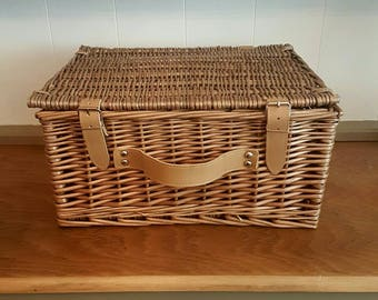 Picnic Basket Wicker Home Decor Storage