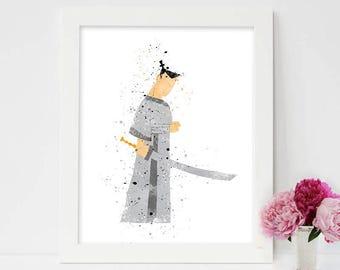 Samurai Jack, Samurai art,Samurai Sword print, Samurai Jack Art, Samurai Jack Poster, Samurai Jack Sword ,Movie poster, Instant Download