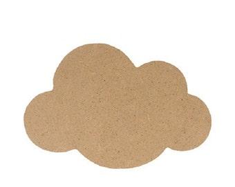 Silhouette cloud 25 cm - Support cloud - cloud wooden MDF