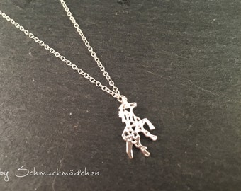 Chain silver unicorn simply