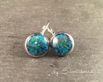 Earrings earrings flower turquoise