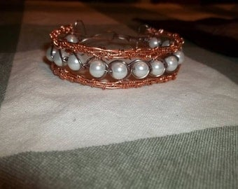 copper wire weaved bracelet