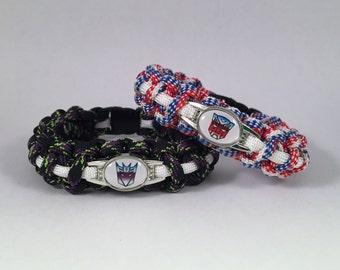 Transformers Autobots Decepticons Paracord Bracelet