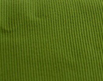 Green coarse knit rib fabric Extrabreit