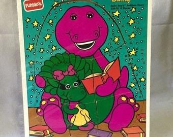 Vintage | Playskool | Barney | Baby Bop | Wooden Puzzle | Jigsaw Puzzle