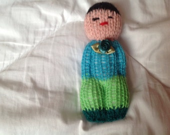 Small doll, knitted doll, soft toy, worry doll