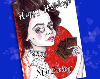 Penny Dreadful Special: Vanessa Ives Happy Holidays Greeting Card 1 JPEG 15x21 cm