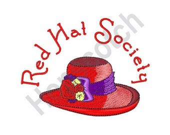 Red Hat Society - Machine Embroidery Design