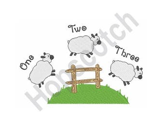 Counting Sheep - Machine Embroidery Design