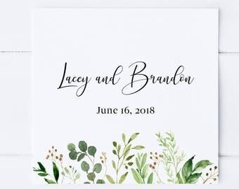 Greenery Favor Tags, Wedding Favor Tags, Printable Favor Tags, Favor Tags, Botanical, Watercolor, Eucalyptus, Party Favor Tags, Custom Tags