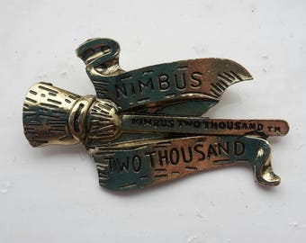 Harry potter Nimbus 2000 hogwarts brooch.