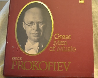Sergei Prokofiev - Time Life Great Men of Music Boxed Vinyl Set of Classical Music