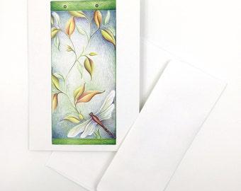 Dragonfly - Folded Card