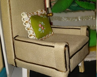 Doll chair 1:6 scale Barbie or 16 inch