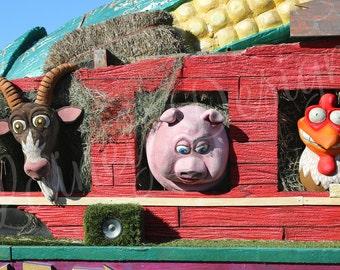 Farm Animals, Barnyard Animals, Nursery Decor, Home Decor, Funny Wood Print, Nursery Wood Print, Rustic Decor, Children's Decor, Kid's Room