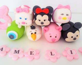 tsumtsum  cake toppers edible  personalised decoration