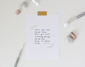 You Are Loved... // Art Print // 5x7 or 8x10