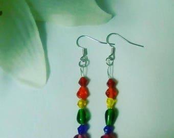 Rainbow Earrings Support LGBTQ