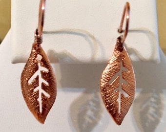 Leaf Copper Earrings