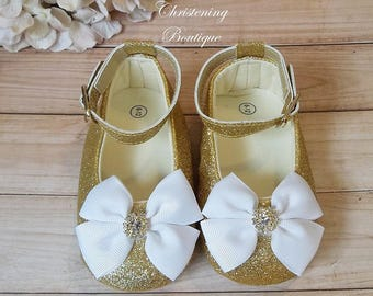 White dress baby girl shoes