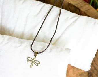 Simple Dragonfly Necklace