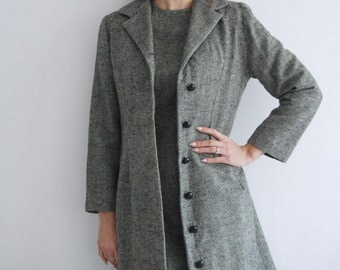 Vintage 50s Tweed Dress and Jacket - UK 10